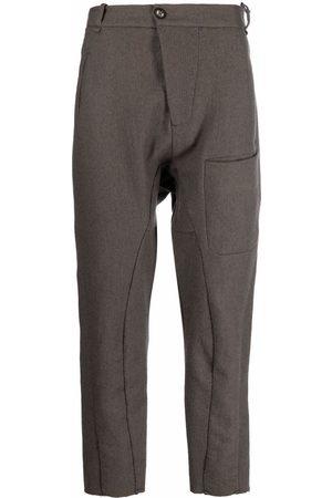 MASNADA Men Skinny Pants - Patch-pocket slim-cut trousers - Grey