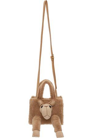 DOUBLET Brown Stuffed Animal Fur Bag