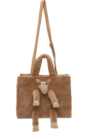 DOUBLET Men Luggage - Brown Stuffed Animal Fur Shoulder Bag
