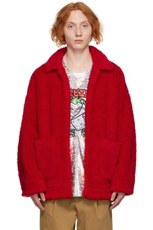 DOUBLET Sherpa 'Painted' Coat