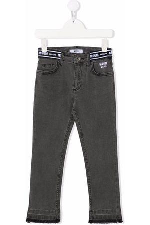 MSGM Kids Girls Skinny - Logo-band skinny jeans - Grey