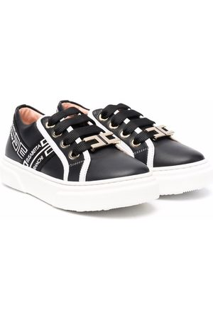 Elisabetta Franchi La Mia Bambina Sneakers - TEEN lace-up leather sneakers