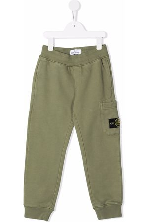 Stone Island Boys Sweatpants - Logo-patch track pants