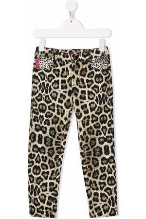 John Richmond Junior Girls Skinny Pants - Leopard-print skinny trousers - Neutrals
