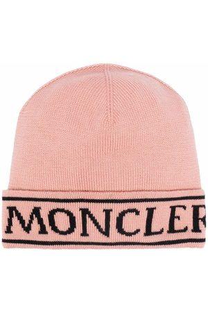 Moncler Hats - Intarsia-knit logo hat