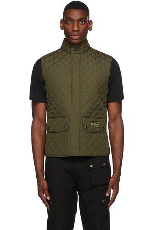 Belstaff Men Gilets - Khaki Quilted Waistcoat Vest