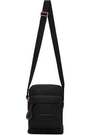 Tom Ford Men Luggage - Black Mini Vertical Messenger Bag