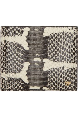 Tom Ford Men Wallets - Black Snake T Line Classic Bifold Wallet