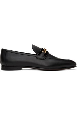 Tom Ford Men Loafers - Black Leather Chain Loafers