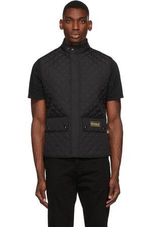 Belstaff Men Gilets - Black Quilted Waistcoat Vest