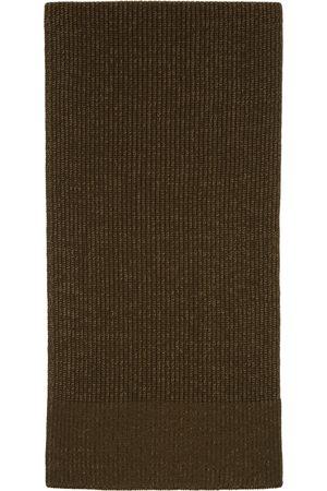 Maison Margiela Men Scarves - Green Wool Knit Scarf