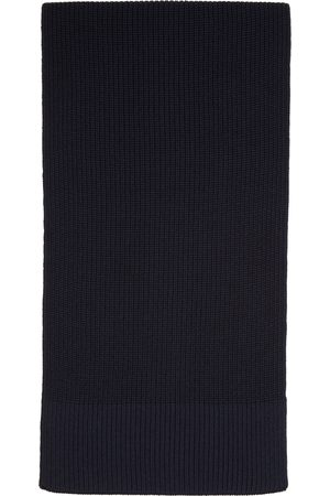 Maison Margiela Navy Wool Scarf