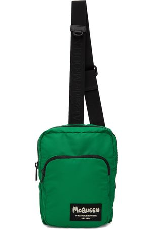 Alexander McQueen Men Luggage - Green Tag Crossbody Camera Bag