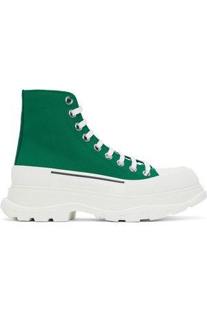 Alexander McQueen Men Sneakers - Green Tread Slick High Sneakers