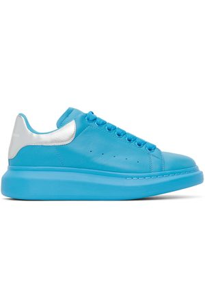 Alexander McQueen Blue & Silver Oversized Sneakers