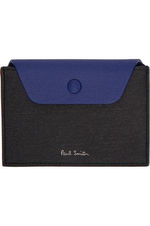 Paul Smith Black & Blue Concertina Wallet