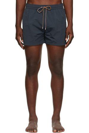 Paul Smith Men Swim Shorts - Navy Plain Swim Shorts