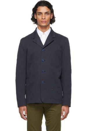 Paul Smith Navy Organic Cotton Work Blazer