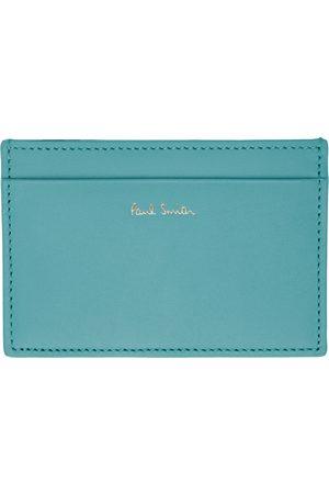 Paul Smith Men Wallets - Blue Signature Stripe Card Holder