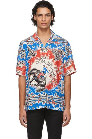 Paul Smith Men Short sleeves - Blue & Red Cowboy Short Sleeve Shirt