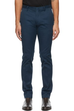 Paul Smith Blue Organic Cotton Slim-Fit Chino Trousers