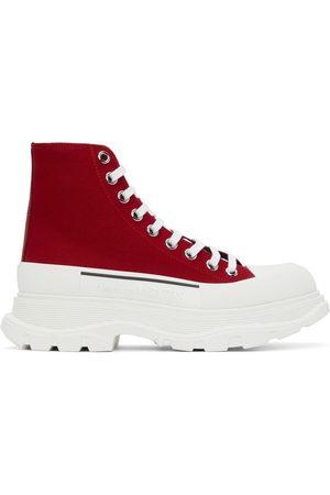 Alexander McQueen Red Tread Slick High Sneakers