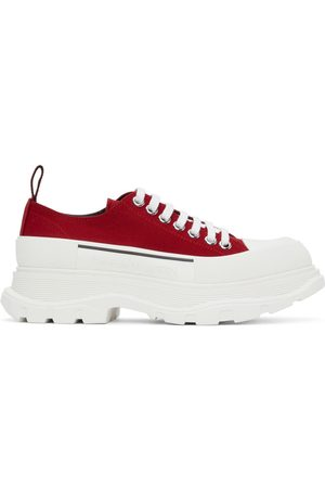 Alexander McQueen Men Sneakers - Red Tread Slick Low Sneakers