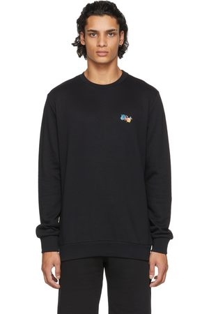 Paul Smith Men Sweatshirts - Black Paint Splatter Sweatshirt