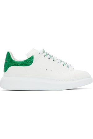 Alexander McQueen Men Sneakers - White & Green Croc Oversized Sneakers