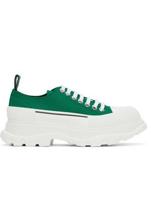 Alexander McQueen Men Sneakers - Green Tread Slick Low Sneakers