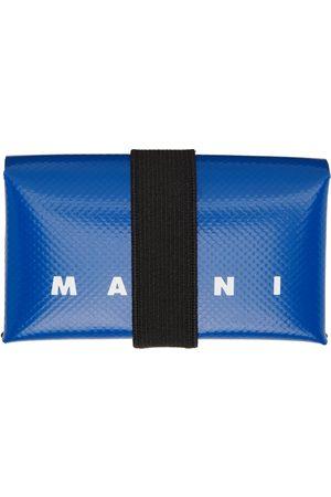 Marni Blue PVC Origami Card Holder