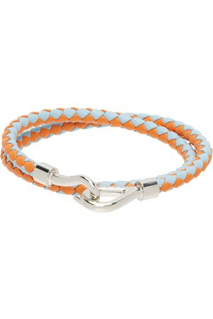 Marni Men Bracelets - Blue & Orange Double Wrap Bracelet