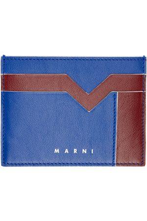 Marni Blue & Burgundy M Graphic Card Holder