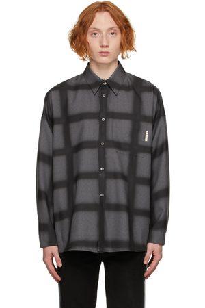 Marni Men Shirts - Grey Wool Check Shirt