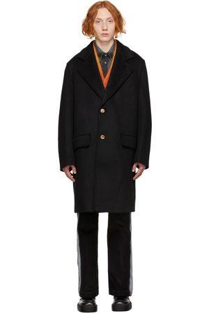 Marni Men Coats - Black Wool Drap Coat