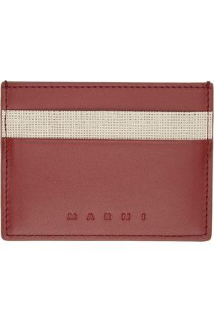 Marni Red & Beige Logo Card Holder
