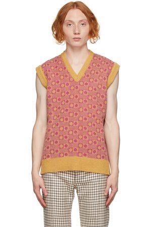 Marni Pink & Orange V-Neck Vest