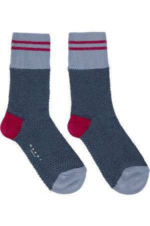Marni Men Socks - Blue & Pink Striped Socks