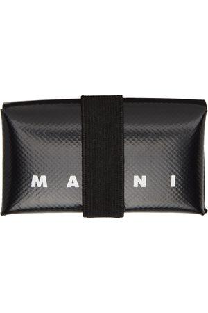 Marni Black PVC Origami Card Holder