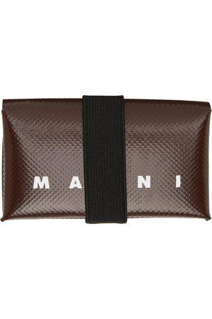 Marni Men Wallets - Brown PVC Origami Card Holder