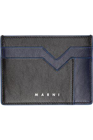 Marni Navy & Black M Graphic Card Holder