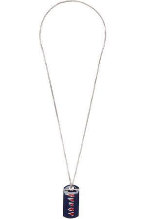 Marni Men Necklaces - Silver & Blue Pendant Necklace