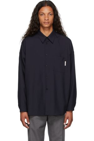 Marni Navy Virgin Wool Shirt