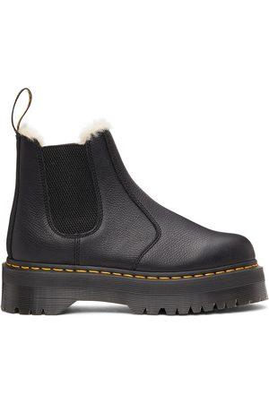 Dr. Martens Men Chelsea Boots - Black 2976 Quad Faux-Fur Lined Boots