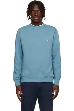 Paul Smith Men Sweatshirts - Blue Zebra Logo Sweatshirt