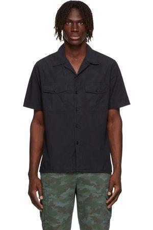 Paul Smith Navy Double Pocket Short Sleeve Shirt