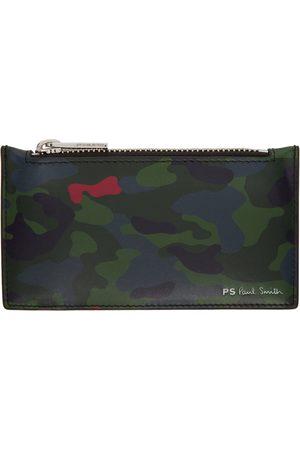 Paul Smith Men Wallets - Multicolor Camo Zip Card Holder