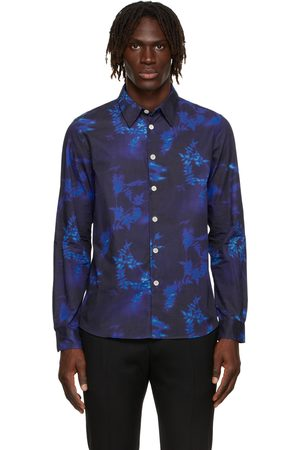 Paul Smith Men Shirts - Navy Floral Tailored Fit Shirt