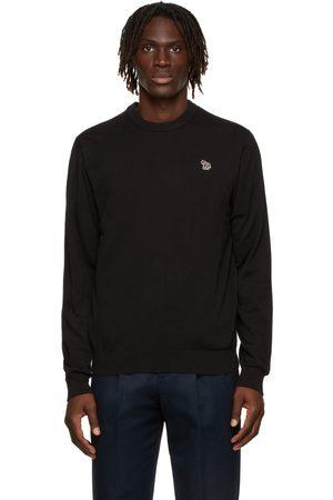Paul Smith Men Sweatshirts - Black Zebra Logo Sweater