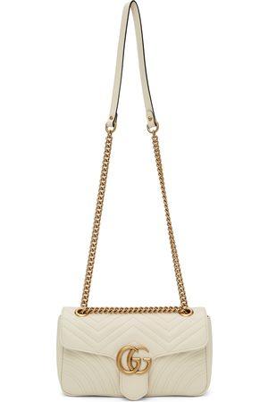 Gucci White Small GG Marmont Bag